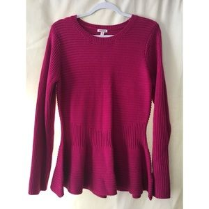 Pink Peplum sweater